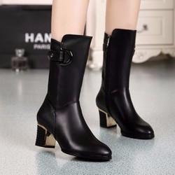 B015D- Giày bốt cao cổ  nữ sành điệu