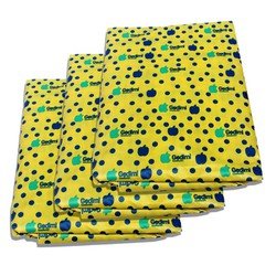 Bộ 3 Ga chống thấm hoa văn hoa chấm bi vàng VNXK 1m6x2mx10cm- Phu Dat