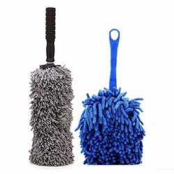 Bộ 1 chổi lau xe sợi dầu cỡ nhỏ và 1 chổi lau dọn nội thất