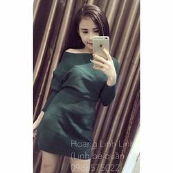 Đầm len tay cánh dơi Quảng Châu