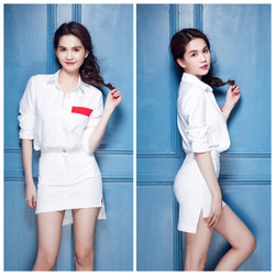 Set váy áo thiết kế năng động trẻ trung Ngọc Trinh