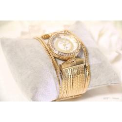 Đồng hồ nữ dây inox mạ vàng sang trọng