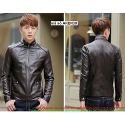 Áo khoác da nam xếp li phong cách Hàn Quốc sành điệu tAKEN39
