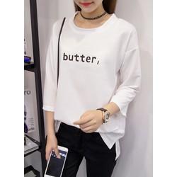Áo thun chữ Butter form rộng