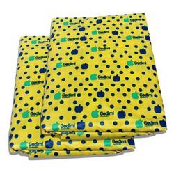 Bộ 2 Ga chống thấm hoa văn hoa chấm bi vàng VNXK 1m6x2mx10cm- Phu Dat