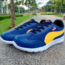 giày thể thao xanh vân cam