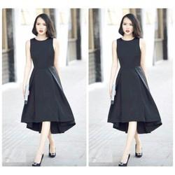 Đầm xoè dài thiết kế đơn giản thanh lịch