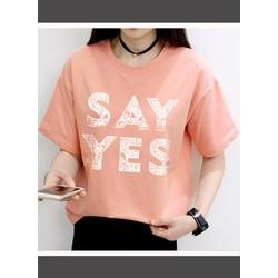 Áo thun chữ Say Yes