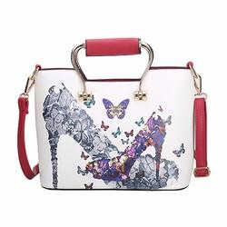 Túi xách thời trang cao cấp họa tiết bướm xinh