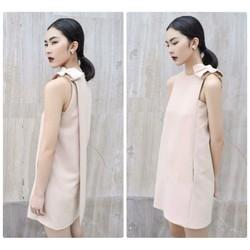 Đầm suông thiết kế phối nơ vai to xinh xắn