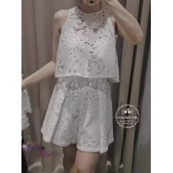 Set bộ short ren kèm áo