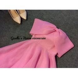 Đầm Xòe Nơ Bẹt Vai