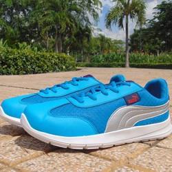 giày thể thao xanh vân trắng