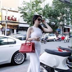 Áo kiểu nữ ôm sát thiết kế dạng yếm ngắn sành điệu sang trọng AKN372