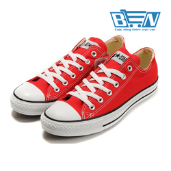 Giày Conver Nữ Thấp Cổ Đỏ 02