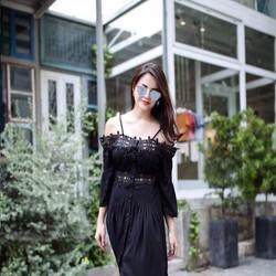 Đầm Maxi Voan Phối Ren Cực Xinh Hàn Quốc
