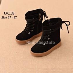 Giày Bốt thời trang cho bé gái 3 - 12 tuổi GC18