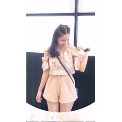 Sét áo trễ vai và quần short hàng Quảng Châu