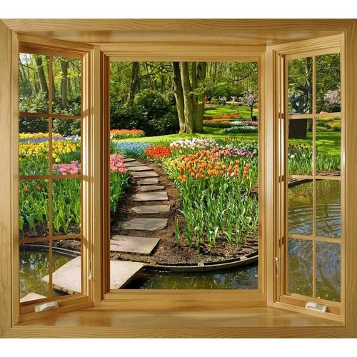 Tranh dán tường cửa sổ gỗ 3D cảnh đẹp vườn hoa VTC G-VT0003 - 4064614 , 4045772 , 15_4045772 , 369000 , Tranh-dan-tuong-cua-so-go-3D-canh-dep-vuon-hoa-VTC-G-VT0003-15_4045772 , sendo.vn , Tranh dán tường cửa sổ gỗ 3D cảnh đẹp vườn hoa VTC G-VT0003