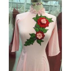 áo dai bưng quả hồng .