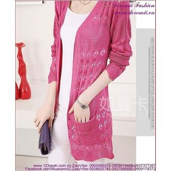 Áo khoác len form dài thu đông phong cách sành điệu AKT17