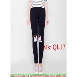 Quần legging nữ hình thỏ trắng dễ thương QL17