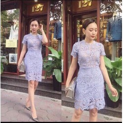 ĐẦM REN TAY CON HÀNG QUẢNG CHÂU SS8155