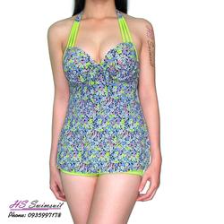 Đồ bơi nữ kín đáo hai mảnh tankini xanh lá HS Swimsuit