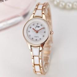 Mừng 20-10 Đồng hồ nữ JW dây giả gốm sứ SP092