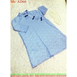 Áo dài nữ cách tân dài tay chất liệu ren nổi sang trọng AD60 View