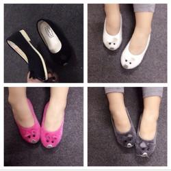 Giày búp bê con chuột bé gái