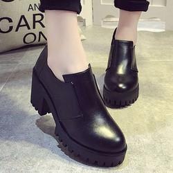 BT239D-Giày Boot Nữ Cổ Thấp Dưới Mắt Cá Chân Có Đế Kiểu Răng Cưa