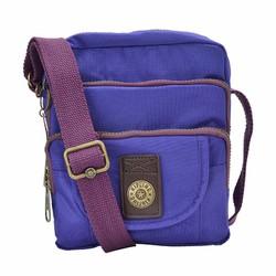 Túi đeo chéo Kipling 3 ngăn xịn màu tím nhạt