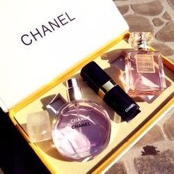 Bộ 2 nước hoa Chanel tặng kèm 1 son lì cao cấp