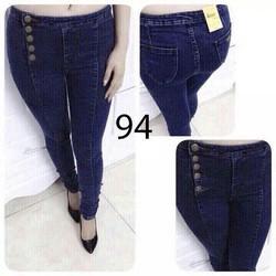 Quần jeans dài cài nút