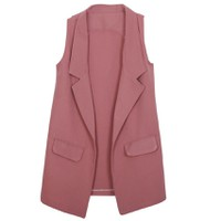 Áo khoác vest blazer nữ form dài sát nách ZENKO CS3 005 BP