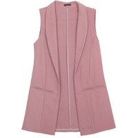 Áo khoác vest blazer nữ form dài sát nách ZENKO CS3 008 DBP