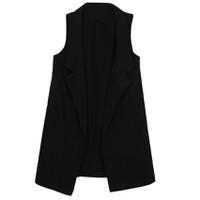 Áo khoác vest blazer nữ form dài sát nách ZENKO CS3