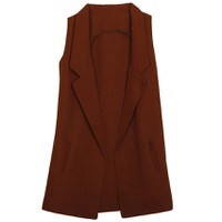 Áo khoác vest blazer nữ form dài sát nách ZENKO CS3 AO KHOAC NU 007 BR