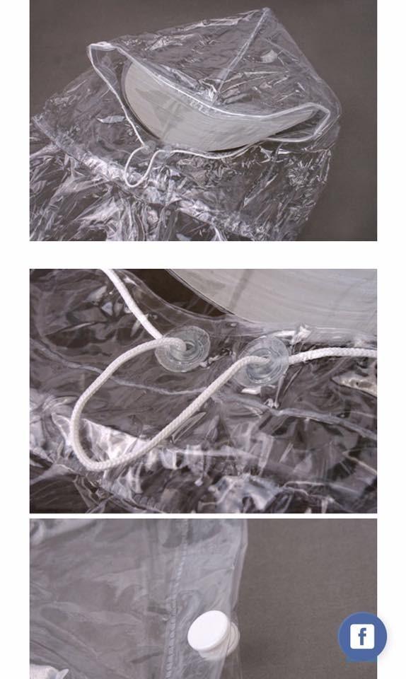 Áo mưa nhựa vi sinh trong suốt 1