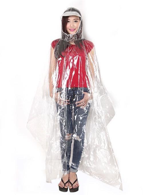 Áo mưa nhựa vi sinh trong suốt 2