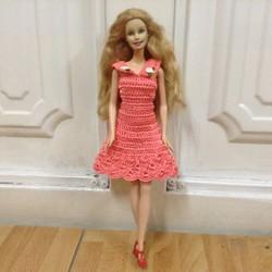 Đầm móc Barbie cổ Peter Pan