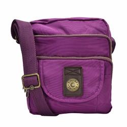 Túi đeo chéo Kipling 3 ngăn xịn màu tím đậm
