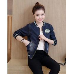Áo khoác jean thêu logo cá tính