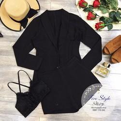 Set áo bra ren áo khoác vest quần short hàng thiết kế!