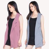 Bộ 2 Áo khoác vest blazer nữ form dài sát nách ZENKO CS3 007 BP G