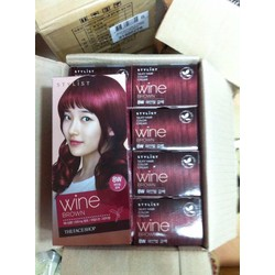 THUỐC NHUỘM TÓC STYLIST SILKY HAIR COLOR CREAM THE FACE SHOP