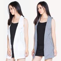 Bộ 2 Áo khoác vest blazer nữ form dài sát nách ZENKO CS3 007 W G