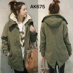 Áo khoác măng tô lót lông dạ bên trong liền nón ấm áp,cá tính,AK675