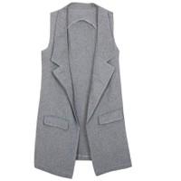 Áo khoác vest blazer nữ form dài sát nách ZENKO CS3 005 G